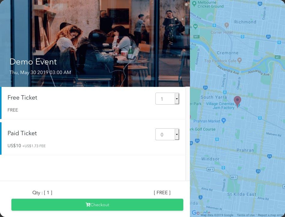 Ticket Embassy Website Widget
