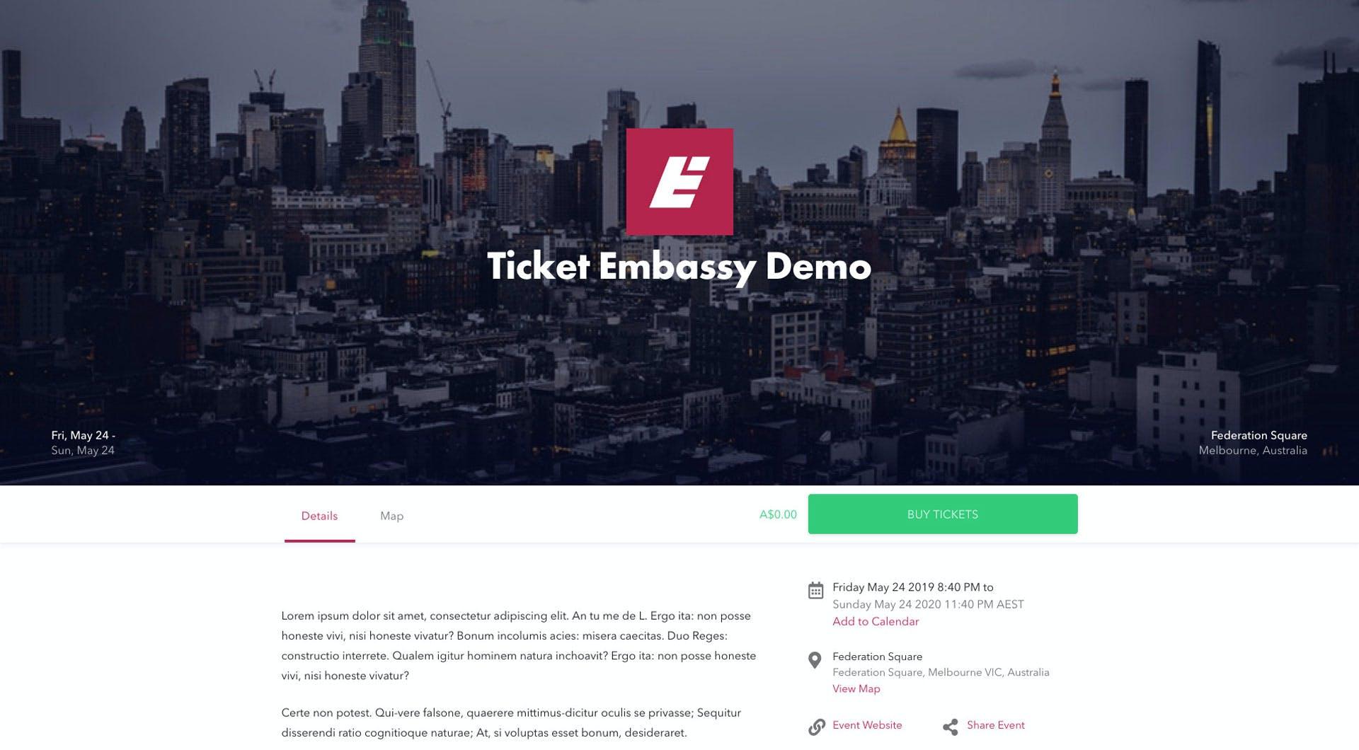 ticketembassy.com eventpage